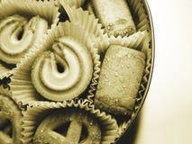 2 καφετιά μπισκότα Στοκ φωτογραφίες με δικαίωμα ελεύθερης χρήσης