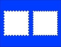 2 κενά πρότυπα γραμματοσήμων Στοκ Φωτογραφία