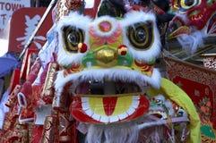 2 κινεζικό νέο έτος λιονταριών Στοκ Φωτογραφίες