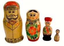 2 κούκλες ρωσικά Στοκ Εικόνες