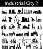 2 κτήρια βιομηχανικά Στοκ φωτογραφία με δικαίωμα ελεύθερης χρήσης