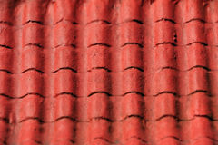 2 κόκκινα κεραμίδια σύστασ Στοκ φωτογραφία με δικαίωμα ελεύθερης χρήσης