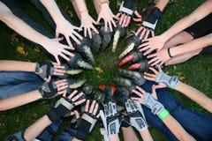 2 κύλινδροι ποδιών χεριών κύκλων Στοκ εικόνα με δικαίωμα ελεύθερης χρήσης