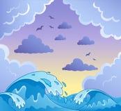 2 κύματα θέματος εικόνας ελεύθερη απεικόνιση δικαιώματος