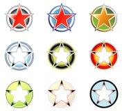 2 λογότυπα μορφής κύκλων που τίθενται το αστέρι Στοκ Φωτογραφίες