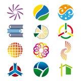 2 λογότυπα που τίθενται Στοκ Φωτογραφία