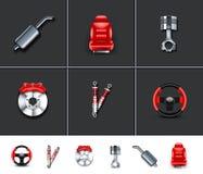 2 μέρη αυτοκινήτων απεικόνιση αποθεμάτων