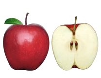 2 μήλα δύο στοκ εικόνα με δικαίωμα ελεύθερης χρήσης