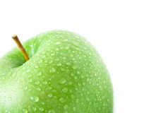 2 μήλα υγρά Στοκ εικόνα με δικαίωμα ελεύθερης χρήσης