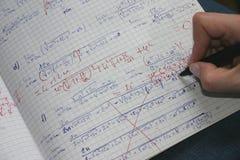 2 μαθηματικά διόρθωσης Στοκ φωτογραφίες με δικαίωμα ελεύθερης χρήσης