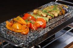 2 μαρμάρινα λαχανικά πιάτων Στοκ Εικόνες