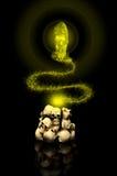 2 μαύρος μαγικός Στοκ εικόνες με δικαίωμα ελεύθερης χρήσης