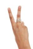 2 μετρώντας αριθμός χεριών Στοκ Φωτογραφία