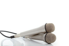 2 μικρόφωνα δύο Στοκ Εικόνα