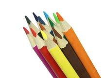 2 μολύβια χρώματος Στοκ φωτογραφία με δικαίωμα ελεύθερης χρήσης