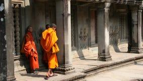 2 μοναχοί angkor Στοκ Εικόνες