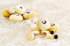 2 μπισκότα βατόμουρων Στοκ εικόνα με δικαίωμα ελεύθερης χρήσης
