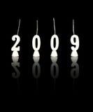 2 νέο έτος του 2009 Στοκ εικόνα με δικαίωμα ελεύθερης χρήσης