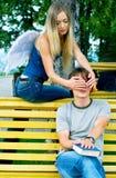 2 νεολαίες ατόμων αγγέλο&ups Στοκ Εικόνα