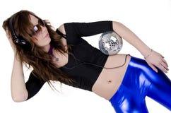 2 νεολαίες γυναικών disco σφαιρών Στοκ Εικόνες