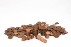 2 νομίσματα που συσσωρεύ&omi Στοκ εικόνα με δικαίωμα ελεύθερης χρήσης