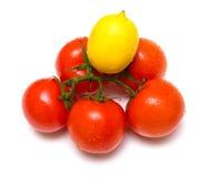 2 ντομάτες λεμονιών Στοκ Εικόνα
