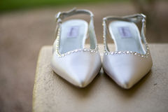 2 νυφικά παπούτσια Στοκ Εικόνες