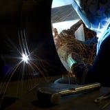 2 ομο welder001 Στοκ φωτογραφία με δικαίωμα ελεύθερης χρήσης