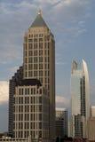2 ουρανοξύστες της Ατλάντ& Στοκ εικόνα με δικαίωμα ελεύθερης χρήσης