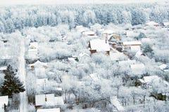 2 παγωμένο χωριό Στοκ Εικόνες