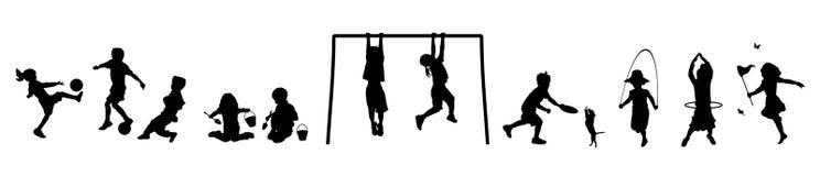 2 παιδιά εμβλημάτων παίζουν το s ελεύθερη απεικόνιση δικαιώματος
