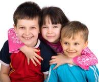 2 παιδιά ευτυχή Στοκ Εικόνες