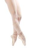 2 παπούτσια ποδιών μπαλέτο&upsilo Στοκ Εικόνες