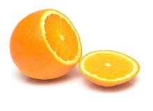 2 πορτοκαλί ώριμο σύνολο Στοκ φωτογραφία με δικαίωμα ελεύθερης χρήσης