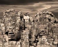 2 πρόσωπα angkor Στοκ Φωτογραφία