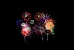 2 πυροτεχνήματα εορτασμ&omicro Στοκ φωτογραφίες με δικαίωμα ελεύθερης χρήσης