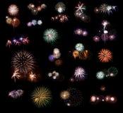 2 πυροτεχνήματα που τίθεν&ta Στοκ φωτογραφίες με δικαίωμα ελεύθερης χρήσης