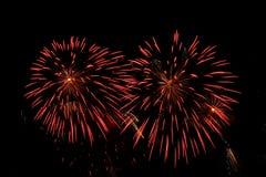 2 πυροτεχνήματα στοκ φωτογραφίες