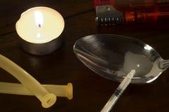 2 σειρές φαρμάκων εθισμού Στοκ Εικόνες