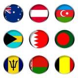 2 σημαίες που τίθενται ελεύθερη απεικόνιση δικαιώματος
