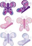 2 σημειώσεις πεταλούδων Στοκ εικόνα με δικαίωμα ελεύθερης χρήσης