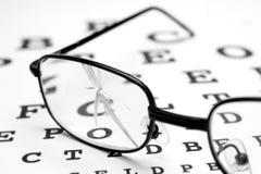2 σπασμένα γυαλιά Στοκ Εικόνα