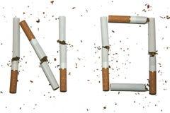 2 σπασμένα τσιγάρα διανυσματική απεικόνιση