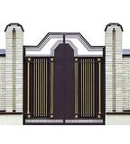 2 σφυρηλατημένες πύλες σύγχρονες στοκ εικόνα