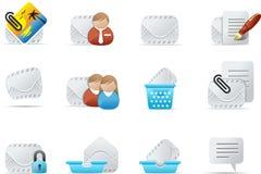 2 σύνολο εικονιδίων emailo ηλεκτρονικού ταχυδρομείου απεικόνιση αποθεμάτων
