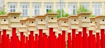 2 τέχνη birdhouse αριθ. Στοκ εικόνες με δικαίωμα ελεύθερης χρήσης