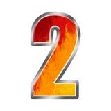 2 φλόγες αριθμός δύο αλφάβητου Στοκ Φωτογραφίες