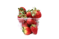 2 φράουλες κιβωτίων Στοκ φωτογραφίες με δικαίωμα ελεύθερης χρήσης