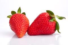 2 φράουλες Στοκ φωτογραφίες με δικαίωμα ελεύθερης χρήσης