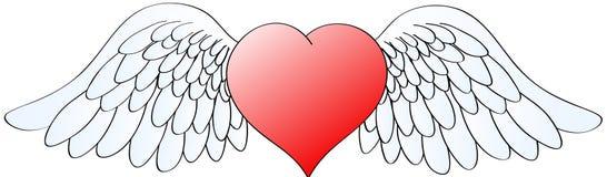 2 φτερά καρδιών Στοκ εικόνα με δικαίωμα ελεύθερης χρήσης